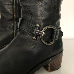 Coach Shoes - Coach black leather knee high boot 7